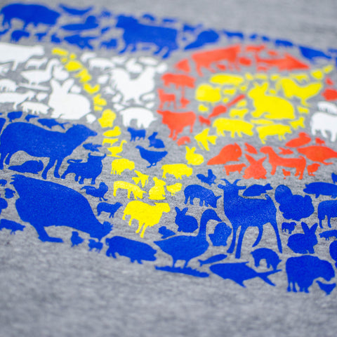CO Animal Flag Shirt Design Closeup