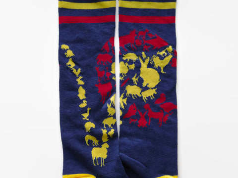 "Colorado ""V"" Animal' Knee High Socks by Compassionate Closet - Compassionate Closet"