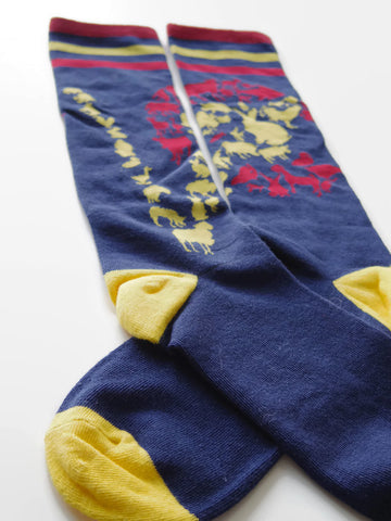 "CO Animal Flag Socks ""V"" design"