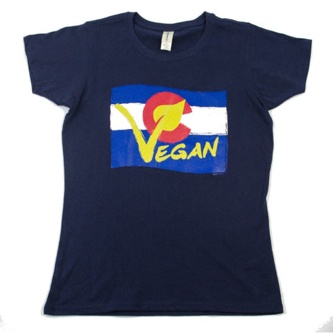 Vegan Colorado Women's T-Shirt Navy