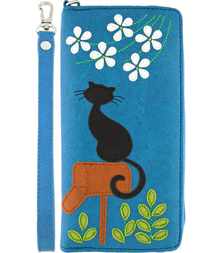 Cat on Mailbox Wristlet Wallet by Lavishy - Compassionate Closet