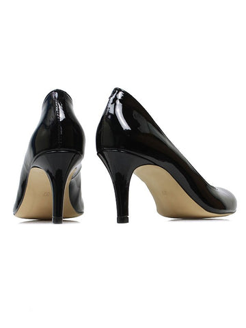 Will's London City Courts Patent Black heels back