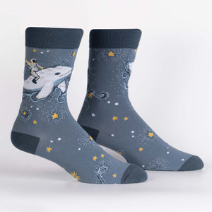 Cosmic Cetacean Crew Socks by Sock it To Me - Compassionate Closet