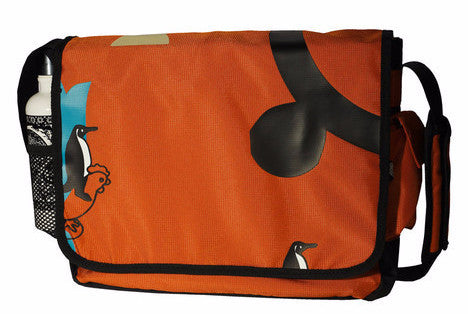 Engage Green Penguin Messenger Bag