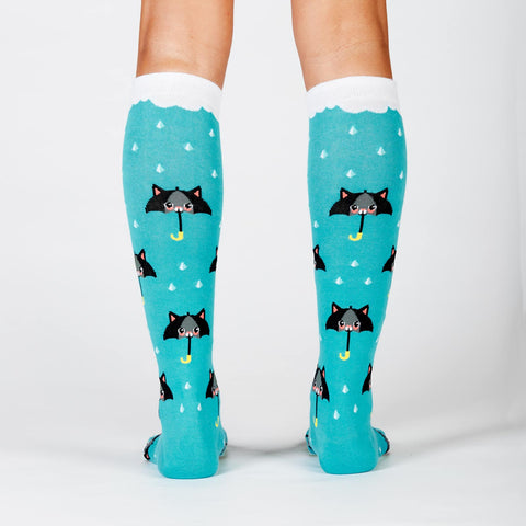 50% Chance of Cats Women's Socks by Sock it To Me - Compassionate Closet