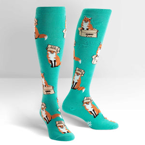Foxes in Boxes Women's Socks by Sock it To Me - Compassionate Closet
