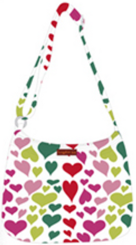 Heart Print Messenger Bag