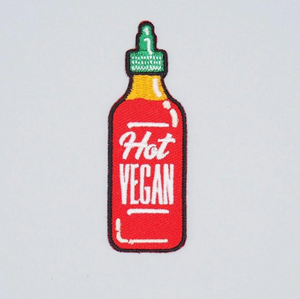 Hot Vegan Iron-On Patch by Herbivore Clothing - Compassionate Closet