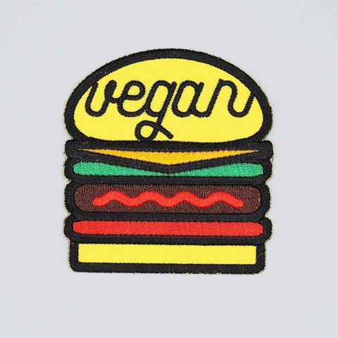 Vegan Burger Iron-On Patch by Herbivore Clothing - Compassionate Closet
