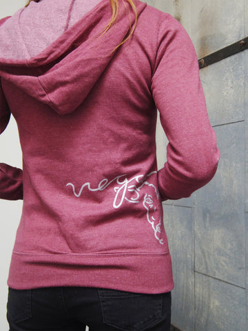 Vegan For Life/Animals Cow Hoodie by Compassionate Closet - Compassionate Closet