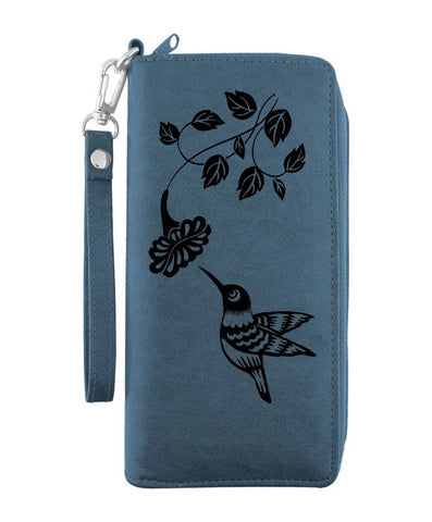 Lavishly 'Hummingbird Vegan Leather Wristlet'