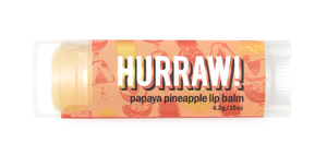 Papaya Pineapple Lip Balm by Hurraw! Balm - Compassionate Closet