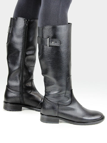 Knee High Riding Boots Black Pair