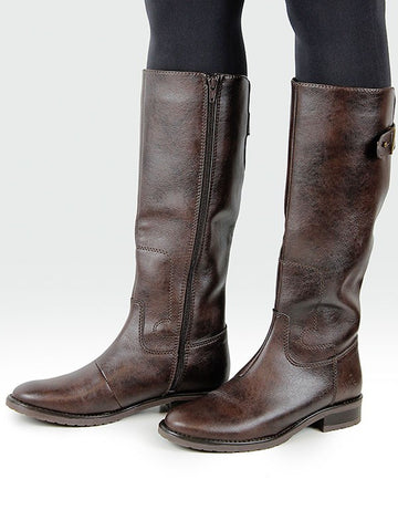 Knee High Riding Boots Dark Brown