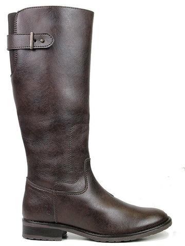 Knee High Riding Boots Dark Brown Right