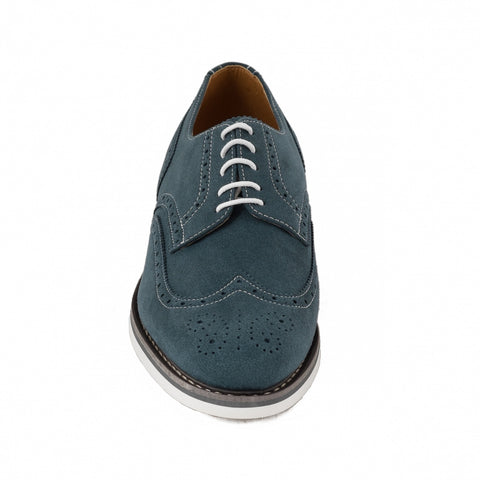 Men's Lito Blue brogues by NAE (front)