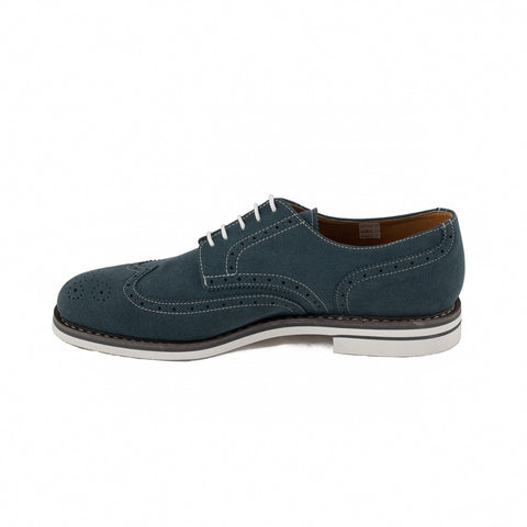 Men's Lito Blue brogues by NAE (inside)