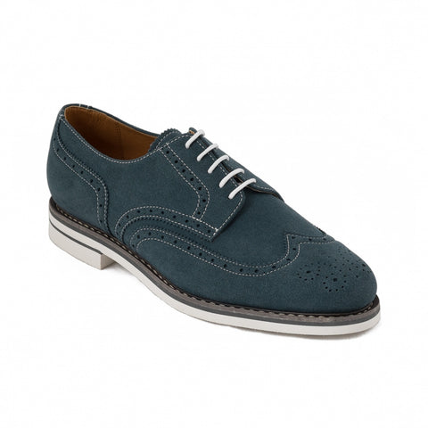 Men's Lito Blue brogues by NAE (right tilt)