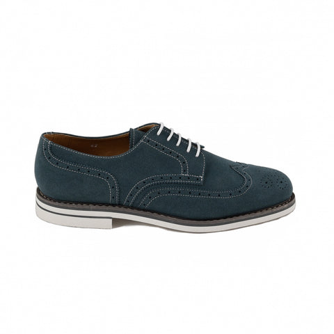 Men's Lito Blue brogues by NAE (right)