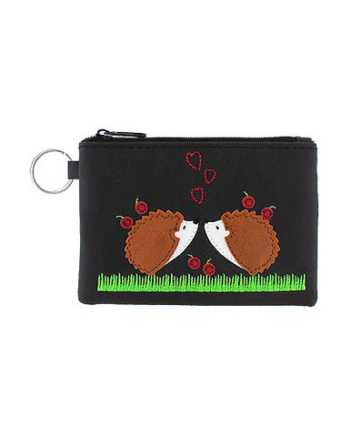 Love Hedgehogs Keyring Coin Purse by Lavishy - Compassionate Closet