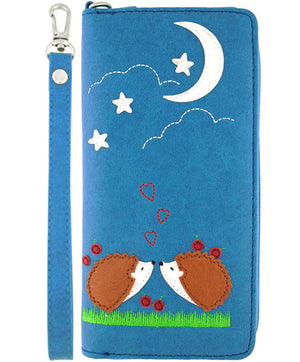 Love Hedgehogs Wristlet Wallet by Lavishy - Compassionate Closet