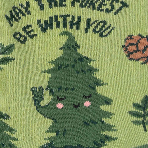 May the Forest Be With You Crew Socks by Sock it To Me