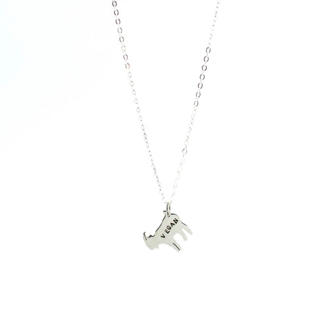 Mini Vegan Goat Sterling Necklace by Christy Robinson Designs - Compassionate Closet