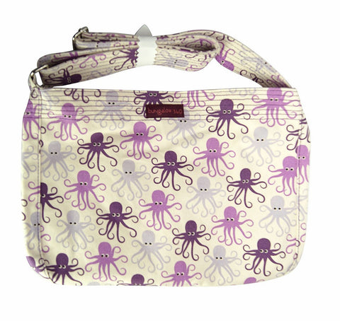 Octopus Print Messenger Bag