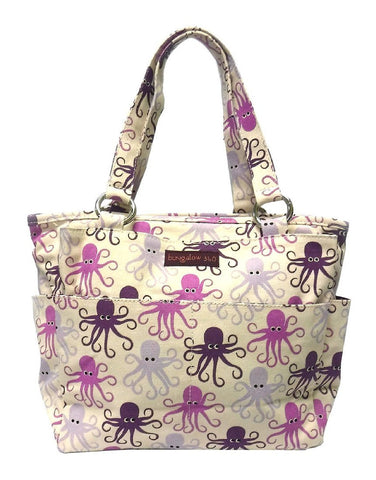 Octopus Print Zipper Pocket Bag