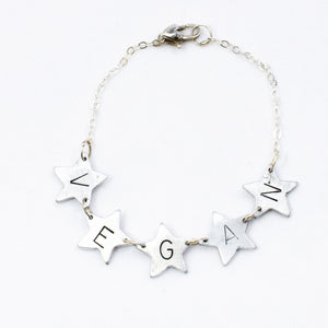 Oh, My Vegan Stars Bracelet by Christy Robinson Designs - Compassionate Closet