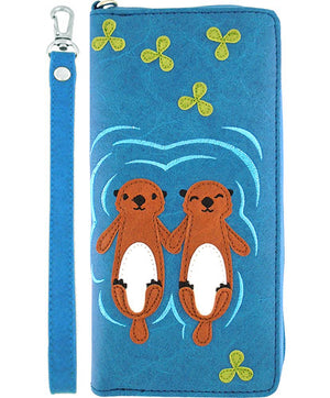 Love Sea Otters Wristlet Wallet by Lavishy - Compassionate Closet