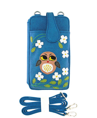 Owl Cell Phone Wallet by Lavishy - Compassionate Closet