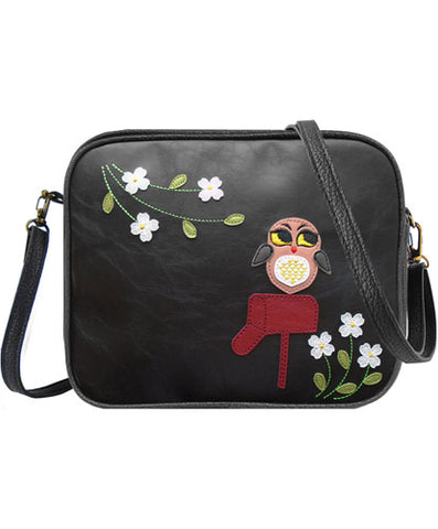 Owl Vancouver Cross Body Bag by Lavishy - Compassionate Closet