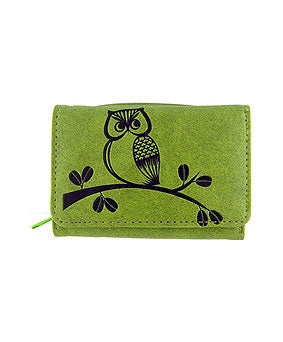 Owl Vegan Leather Small Wallet by Lavishy - Compassionate Closet