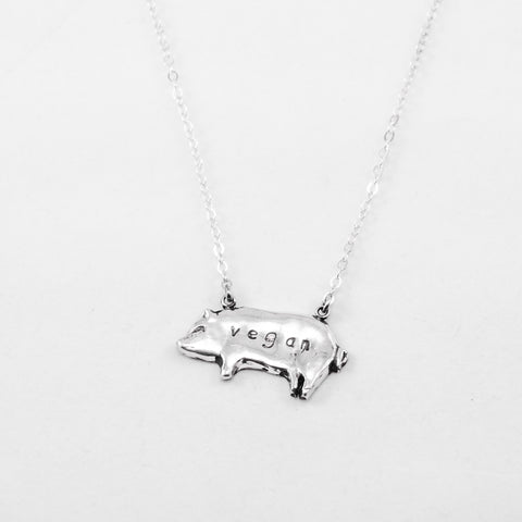 Pig PMC Necklace by Christy Robinson Designs - Compassionate Closet