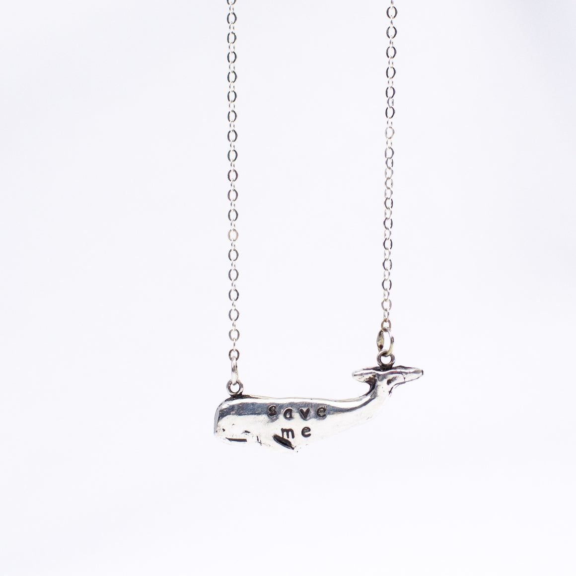 Save Me Whale PMC Necklace by Christy Robinson Designs - Compassionate Closet