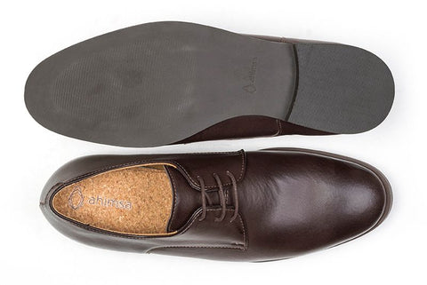 Plain Toe Shoe Brown Top & Sole