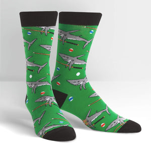 Pool Shark Crew Socks by Sock it To Me - Compassionate Closet