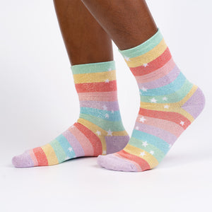 Stay Golden Crew Socks by Sock it To Me - Compassionate Closet