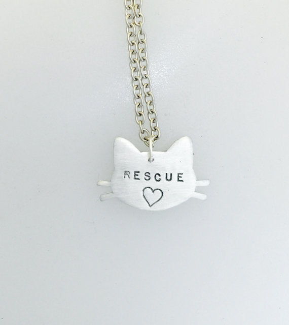 Rescue Cat Necklace by Christy Robinson Designs - Compassionate Closet