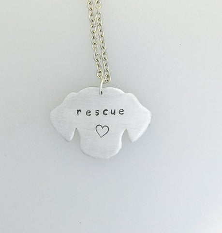 Rescue Dog Necklace by Christy Robinson Designs - Compassionate Closet