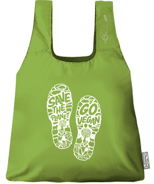 Save The Planet Go Vegan Tote by Compassionate Closet - Compassionate Closet