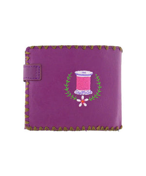Sewing Machine & Flower Embroidered Wallet by Lavishy - Compassionate Closet