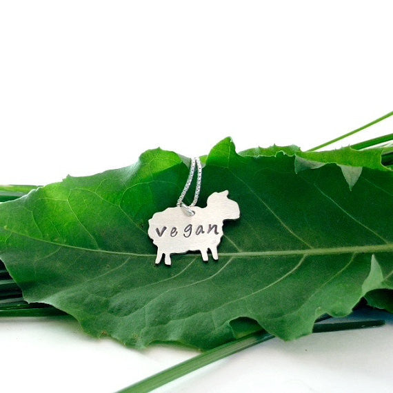 Vegan Sheep Necklace by Zaaya - Compassionate Closet