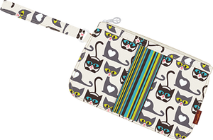 Striped Wristlet by Bungalow360 - Compassionate Closet