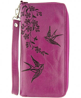 Swallow Vegan Leather Wristlet by Lavishy - Compassionate Closet