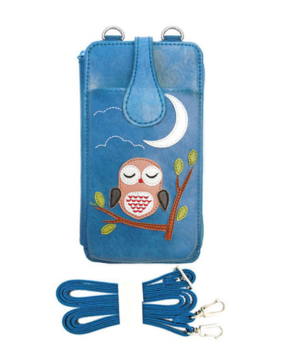 Sweet Dreams Owl Cell Phone Wallet by Lavishy - Compassionate Closet