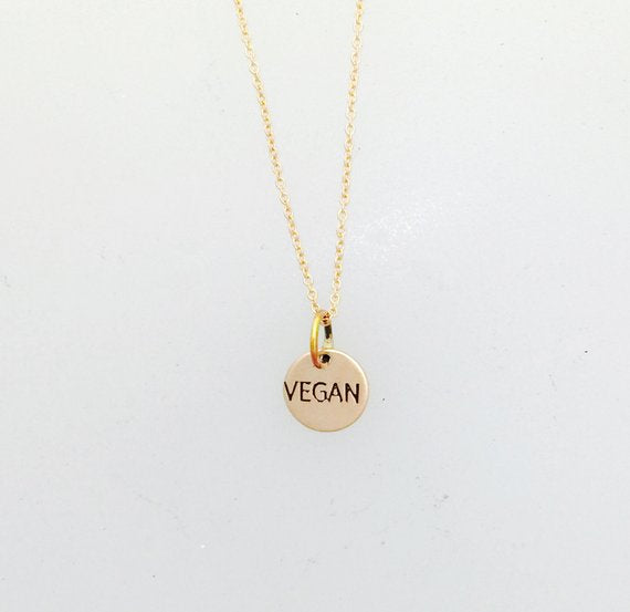 Tiny Vegan Rose Gold Filled Circle Necklace by Christy Robinson Designs - Compassionate Closet