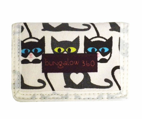 Cat Print Trifold Wallet