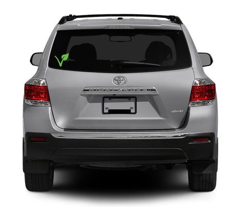 "Vegan ""V"" Auto Window Decal in Green"
